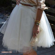 DIY Tulle Skirt Tutorial @Margaret Martinez Schaffer