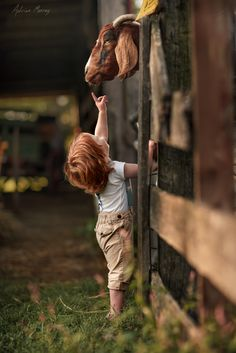 Reach for the Nose by Adrian C. Murray - Photo 129633477 - Relax with these backyard landscaping ideas and landscape design. Country Life, Country Girls, Country Charm, Country Living, Cute Kids, Cute Babies, Precious Children, Ansel Adams, Animals For Kids
