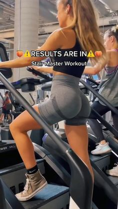 Stairmaster Workout, Leg And Glute Workout, Buttocks Workout, Gym Workout Videos, Gym Workout For Beginners, Full Body Gym Workout, Fitness Workout For Women, Fitness Goals, Gym Workouts