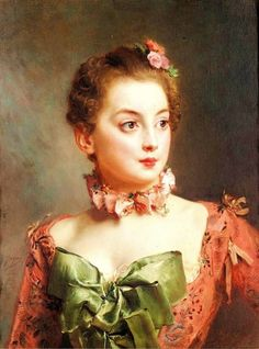 A Lady in Pink — Unknown Painter