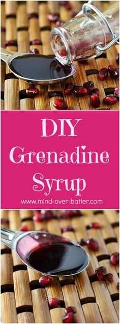 DIY Grenadine Syrup {mind-over-batter.com}