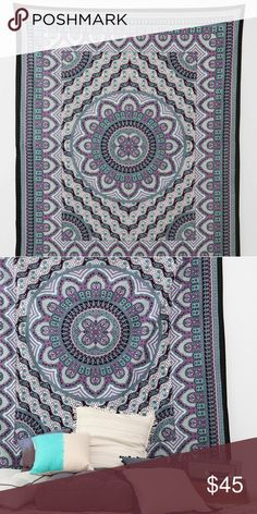 "Urban Outfitters Tapestry Urban Outfitters Magical Thinking Royal Medallion Tapestry 101"" x 82"" Urban Outfitters Other"