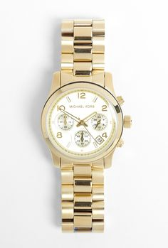 Gold Sport Chronograph Watch by Michael Kors Watches