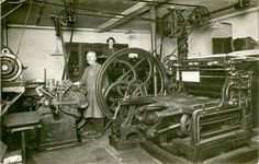 Steam Powered Printing Press In The 19th Century Steam