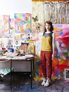 Minna Gilligan in her Melbourne Studio. Photo – Eve Wilson. Production- Lucy Feagins for http://thedesignfiles.net