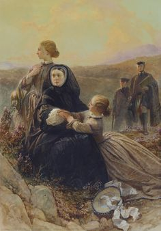 Queen Victoria with her middle daughters, Helena and Louise.