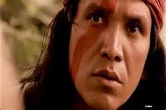 Michael Greyeyes as Tecumseh but he is how I picture Liwanu with his scar on the side of his face