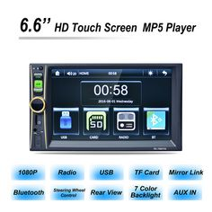54.17$  Watch now - http://aliae3.shopchina.info/1/go.php?t=32814415216 - RK-7680TM Mobile Phone Interconnection Function 6.6 Inches of Car Stereo Audio MP5 Player Double DIN MP5 Player MP4 MP3 player  #bestbuy