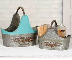Set of Two Storage Baskets