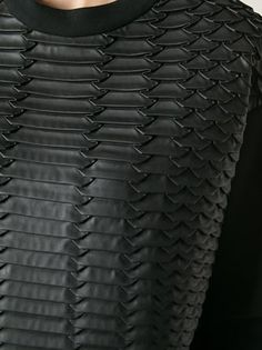Cédric Charlier contrasting textured front sweatshirt