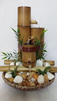 bambu bambu fonte água Small Fountains, Indoor Water Fountains, Indoor Fountain, Diy Crafts For Home Decor, Diy Garden Decor, Diy Crafts Jewelry, Bamboo Water Fountain, Diy Fountain, Bamboo Art