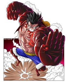 luffy gear 4 by darko-simple-art on deviantart One Piece Gear 4, One Piece Series, One Piece Ace, One Piece Luffy, Luffy Gear Fourth, Luffy Gear 4, Manga Anime One Piece, Anime Manga, Anime Art