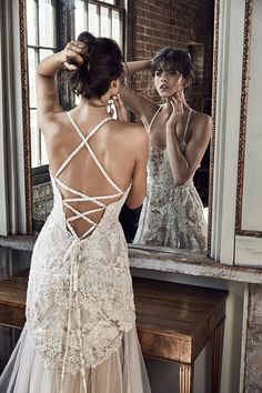 Cross over back wedding gown. GLLLIMITEDEDITION_LIBERTY1