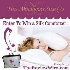 #EnterToWin a @mulberrysilk Comforter in your choice of size {rv $355} Ends 7/20 #bedding