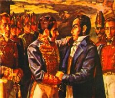 Meeting between Bolivar and Morillo