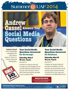 Andrew Cassel can answer your social media questions.