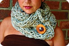 free spirit short cable cowl with upcycled tree by melodyjoy1983, $46.00