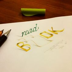 Lettering with Parallelpen-Brushpen&Pencil.As allways, I tried to create anamorphic typography and lettering with calligraphy tools and pencil. I hope you will enjoy. Thanks and regards,Tolga GİRGİN Calligraphy Tools, Calligraphy Letters, Creative Lettering, Lettering Styles, Typography Letters, Typography Design, Crayons Pastel, Beautiful Lettering, Letter Art