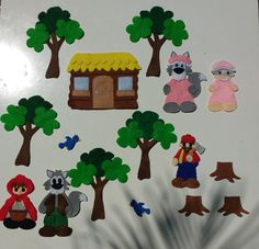 Little Red Riding Hood felt board set