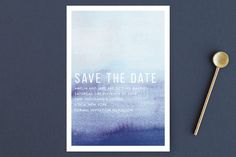 """""""Ombre"""" - Save The Date Postcards in Mandarin by Dean Street."""