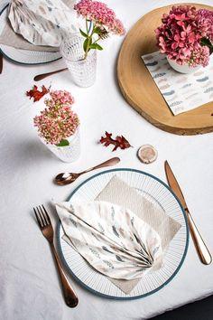 Table d'automne, DIY pliage de serviette feuille www.mesabella.fr