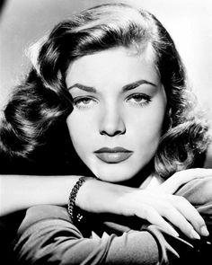 Lauren Bacall - so beautiful and so distinctive looking.  Definitely a head turner! (circa 1945)