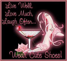 Always wear cute shoes...
