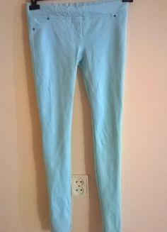Kup mój przedmiot na #vintedpl http://www.vinted.pl/damska-odziez/rurki/9743738-sliczne-mietowe-tregginsy-na-gumce