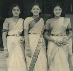 The Travancore Sisters - South Indian Royalty. Perfect example of the use of gold belts (oddiyanam) on Lalitha/Ragini/Padmini. Jaisalmer, Udaipur, Indian Heroine, Malayalam Cinema, Sisters Forever, Vintage India, Vintage Bollywood, Wordpress, Old Actress