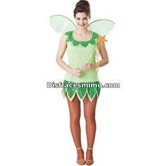 Tu mejor disfraz de campanilla mujer adulta.Con ese original Disfraz de Campanilla verde para mujer estarás divina en Despedidas de Soltera, Fiestas de Disfraces o Carnavales