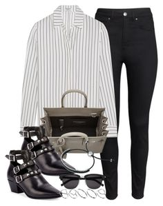 """""""Style #9832"""" by vany-alvarado ❤ liked on Polyvore featuring H&M, Frame Denim, Yves Saint Laurent, Links of London, ASOS, women's clothing, women, female, woman and misses"""