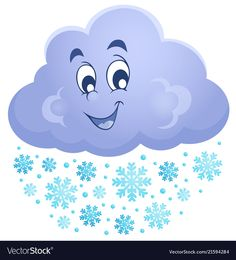 Winter cloud theme image 1 vector image on VectorStock Art Drawings For Kids, Drawing For Kids, Cartoon Drawings, Cute Drawings, Weather For Kids, Cartoon Clouds, Cartoon Sun, Picture Cloud, Kids Background