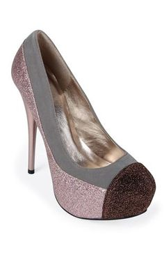 glitter color block pumps, available in 3 colors