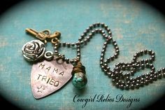 Mama Tried ~ outlaw cowgirl charm necklace  ;-)   #handmade #jewelry