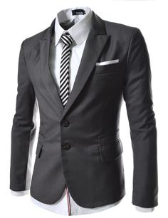 TheLees Mens casual peak lapels 2 button Jacket at Amazon Men's Clothing store: Blazers And Sports Jackets