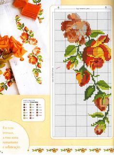 Cross Stitch Needles, Cute Cross Stitch, Cross Stitch Rose, Cross Stitch Borders, Cross Stitch Flowers, Cross Stitch Charts, Cross Stitching, Cross Stitch Embroidery, Hand Embroidery