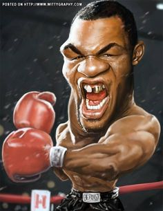 Iron Mike Tyson by richconleyart ...FOLLOW THIS BOARD FOR GREAT CARICATURES OF PEOPLE WE KNOW..I'LL BE ADDING NEW PINS DAILY..