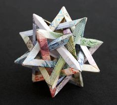"Make ORIGAMI: A ""polyhedron"" – the star of the currencies of four countries"