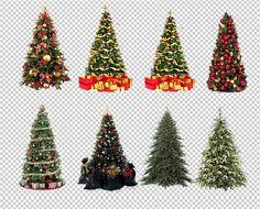 14 Árboles de navidad en formato PNG (transparente)