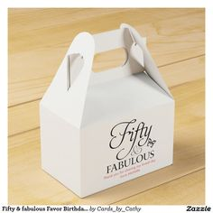 Fifty & fabulous Favor Birthday box Party Favor Boxes