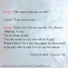 Adam and Kenji Shatter me