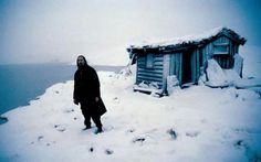"Gaahl at his grandparent's cabin in winter - Espedal, Norway (2005), from the book ""True Norwegian Black Metal"" (May 2008) by the photographer Peter Beste."