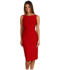 KAMALIKULTURE Sleeveless Shirred Waist Dress Red - Zappos.com Free Shipping BOTH Ways