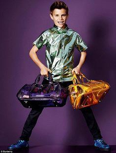Romeo Beckham Modeling for Burberry Prorsum Spring Summer 2013 Campaign.