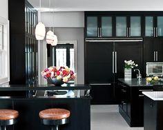 Lush Fab Glam Blogazine: Interior Design: Bold And Dramatic Black Glamour.
