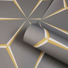 Belgravia Decor Hudson Geometric Metallic Wallpaper Yellow 9790