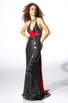 Black Tie Black Mermaid/Trumpet Halter Sashes/Ribbons Prom Dress PD13F5