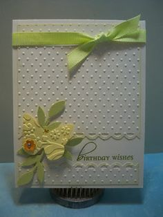 Little Scrap Pieces: Birthday Wishes - Fiskars Apron Border Punch - Little Leaves Sizzlits