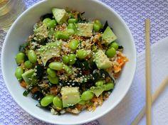 edamame sushi bowl - voracious