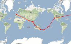 Good ideas for round the world trip itineraries.  The Navigator RTW on Tripline